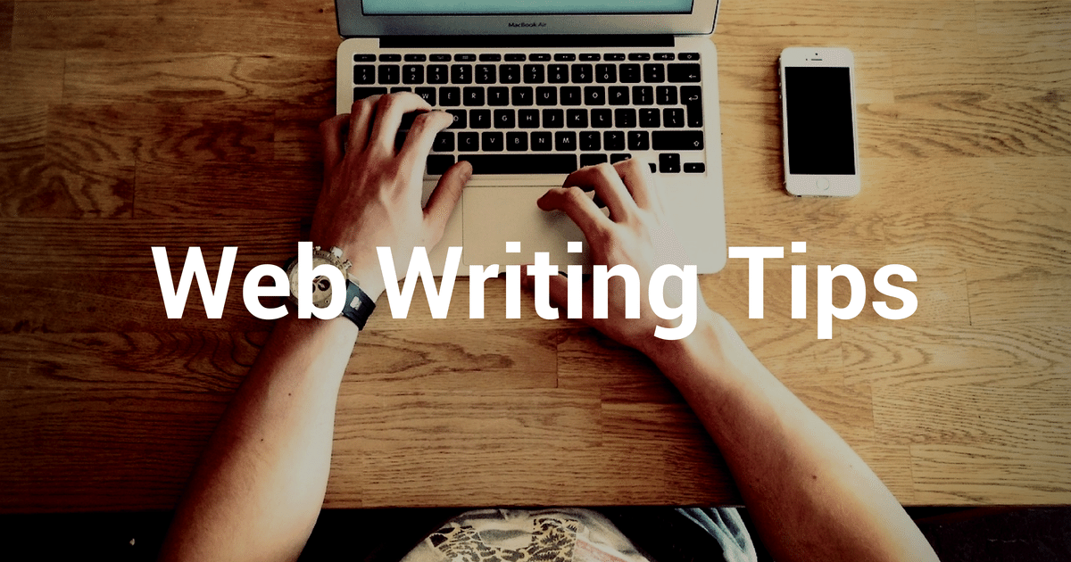 web writing tips