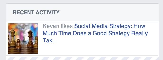 Facebook recent activity