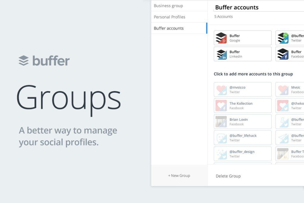 Introducing Buffer Groups