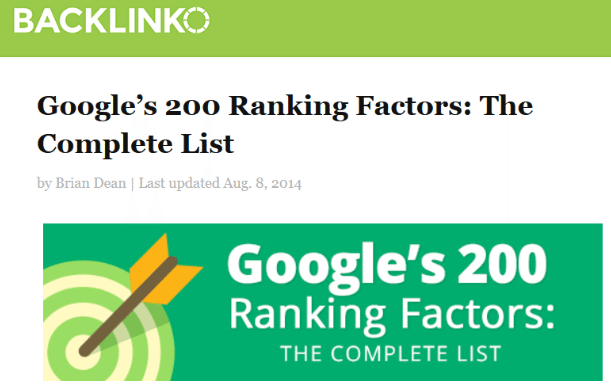 ranking factors post