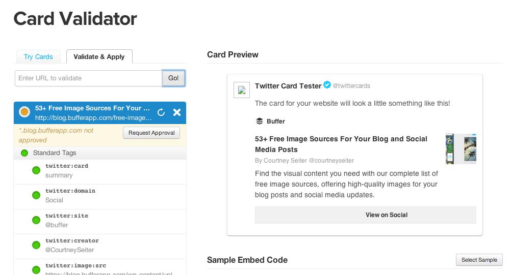 card validator screen