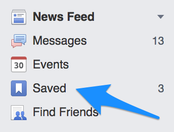 Facebook-saved-feature