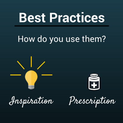 best practices as Inspiration