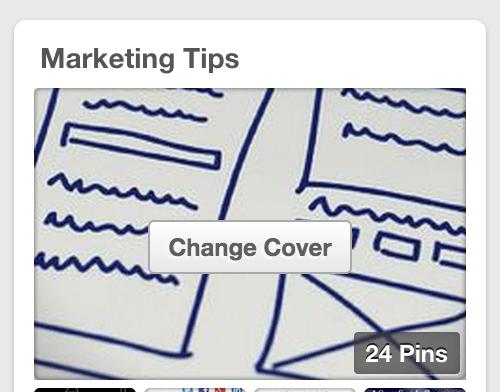 Change Cover on Pinterest