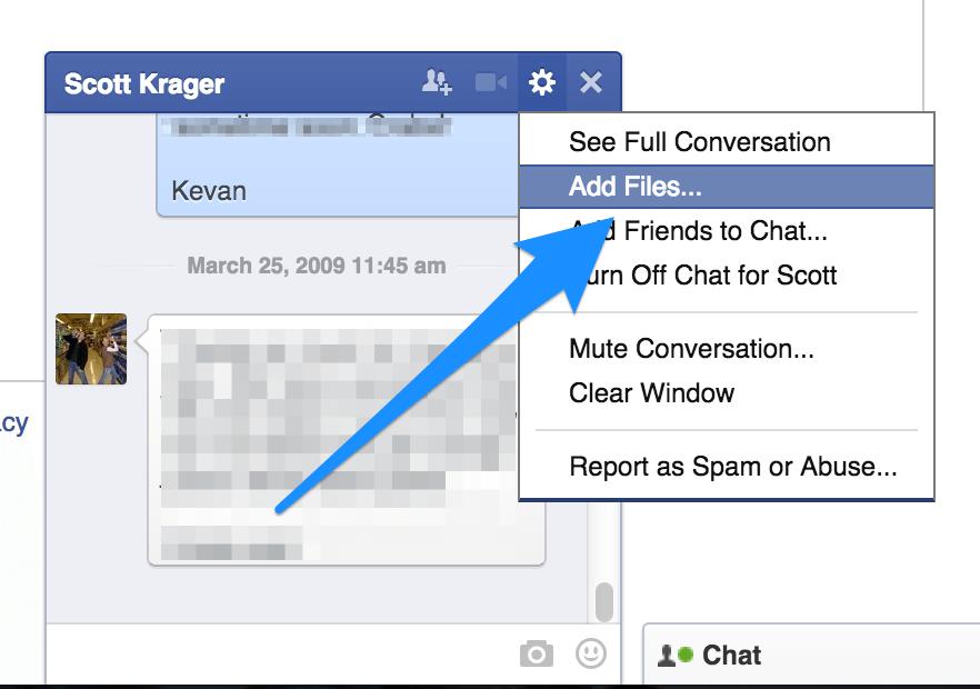 add files FB chat