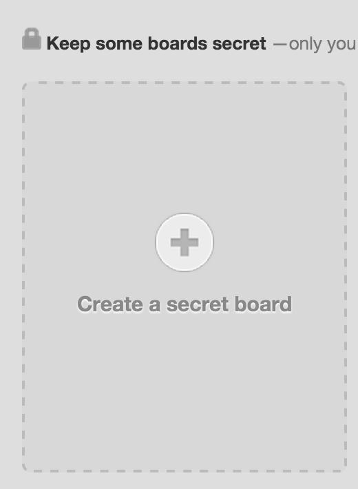 secret pinterest boards
