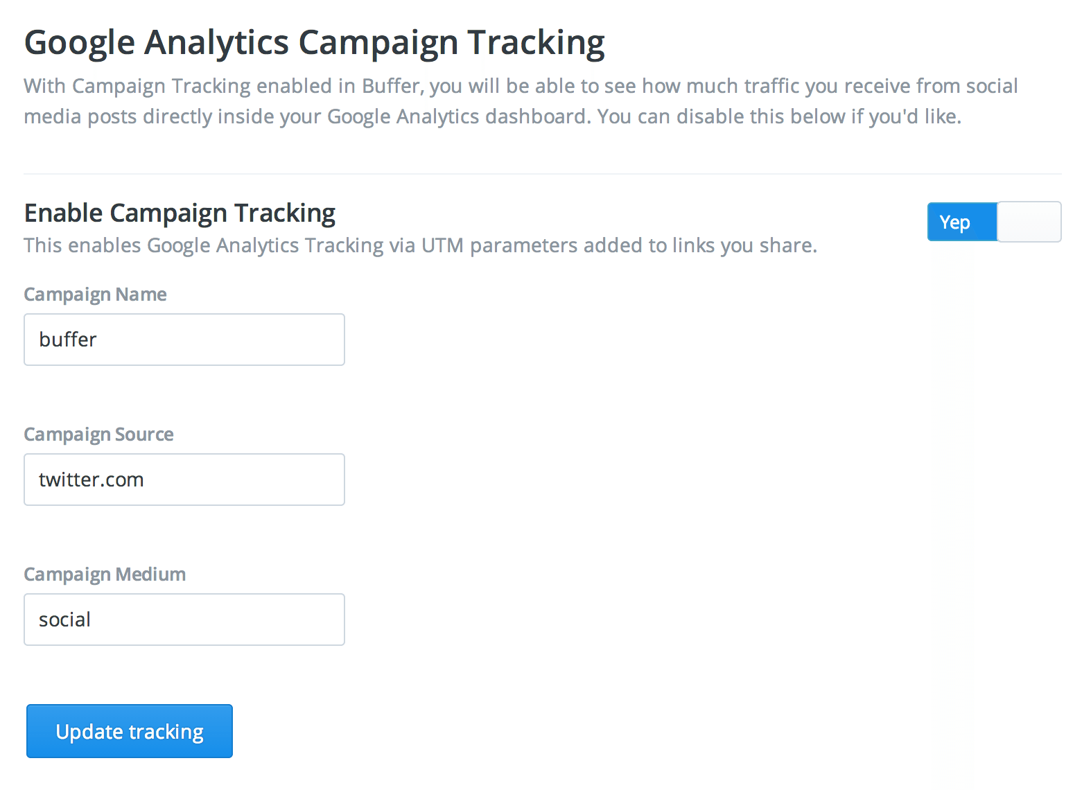 buffer google campaign tracking