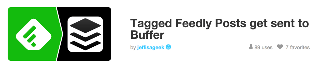ifttt feedly tag buffer recipe