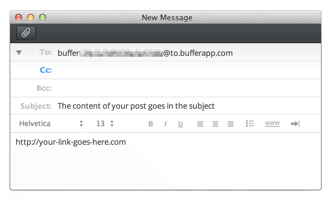 buffer secret email