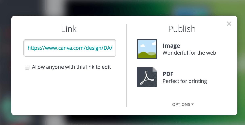 publish image canva