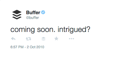 Buffer's first tweet