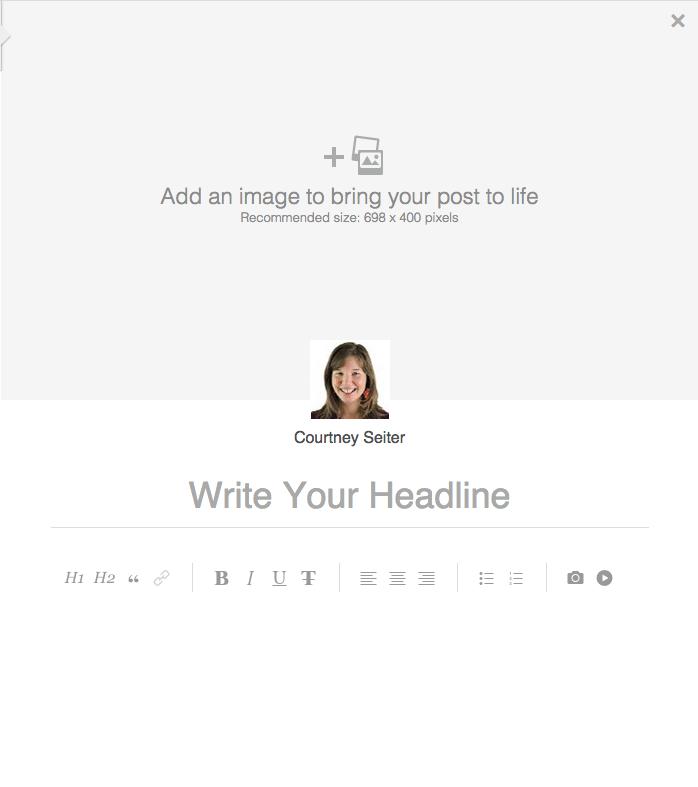 LinkedIn blogging