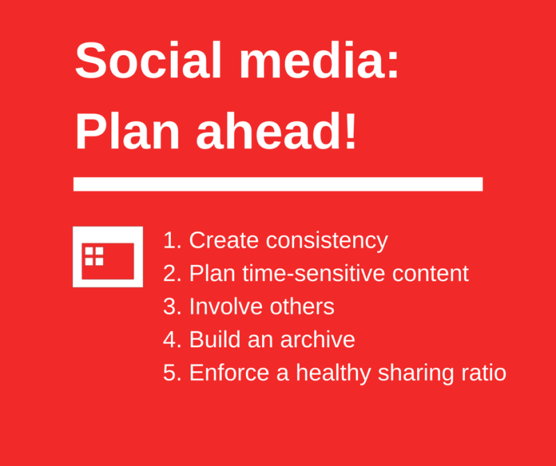 Why plan your social media content-