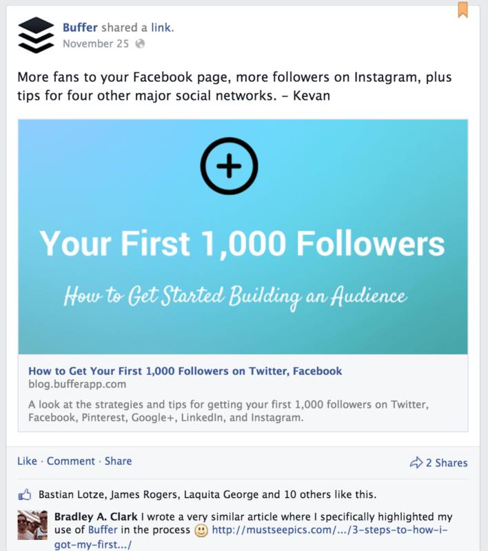 buffer facebook pinned update