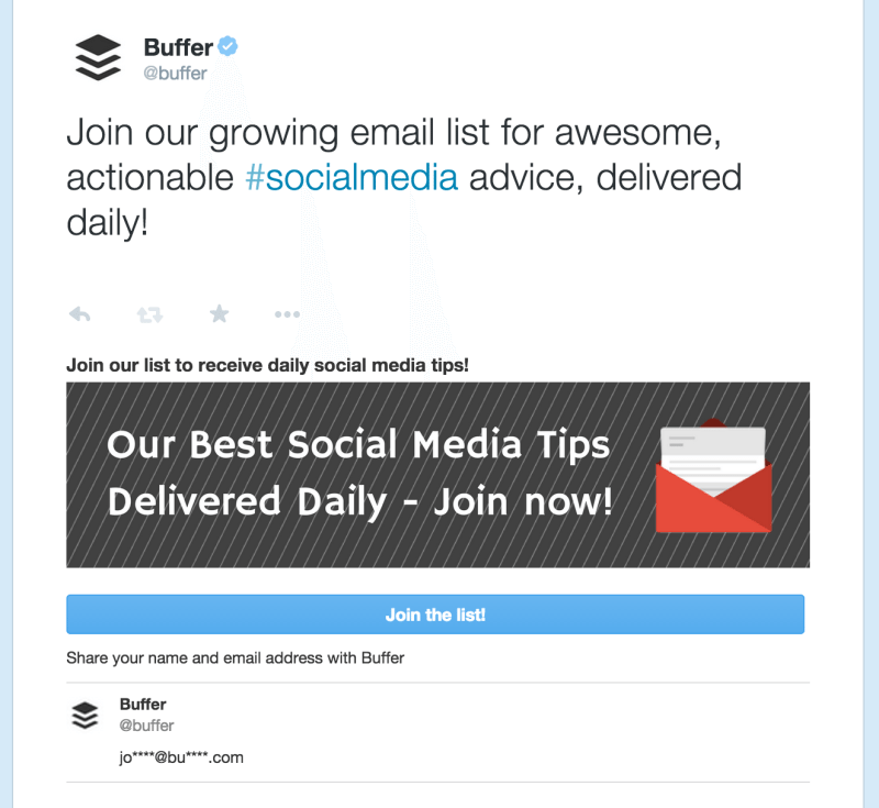 buffer pinned twitter card