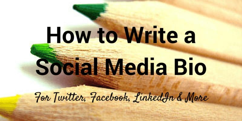 how to write a social media bio