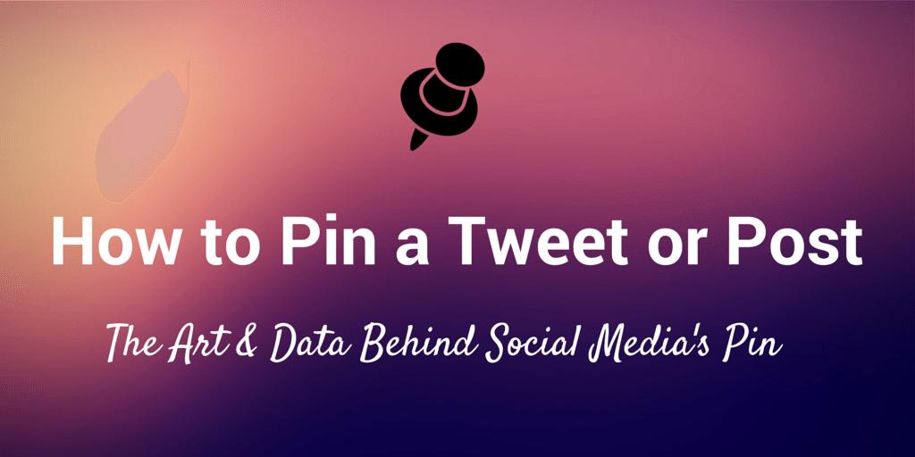 pin a social media update