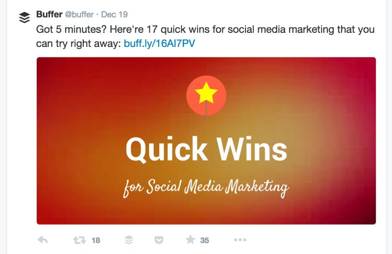 quick wins twitter