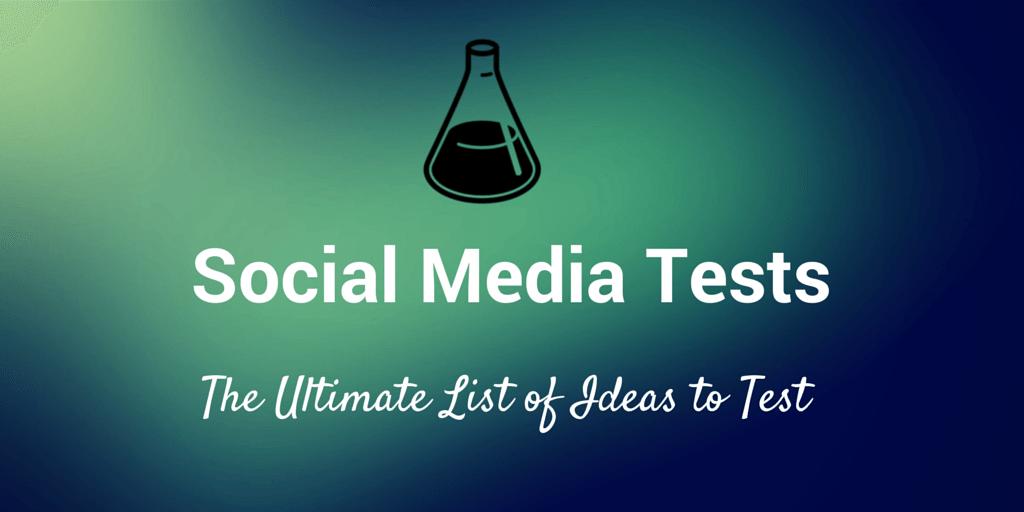 social media tests