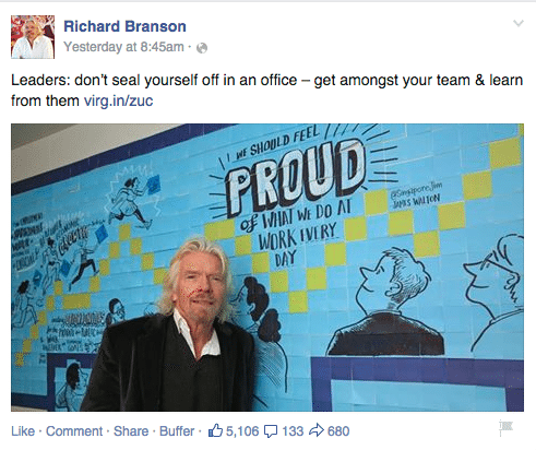 Richard Branson Facebook