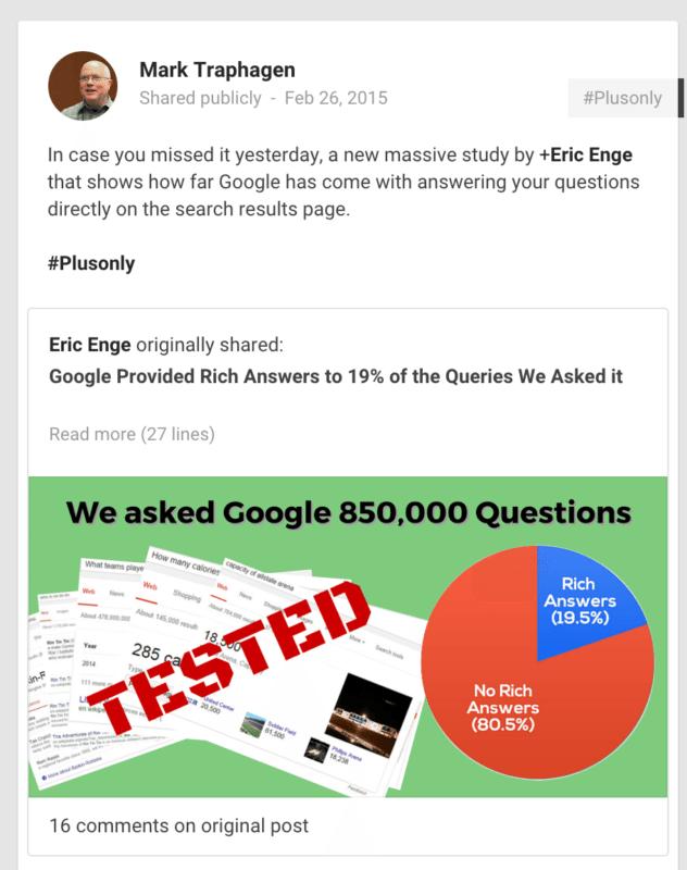 google+ example