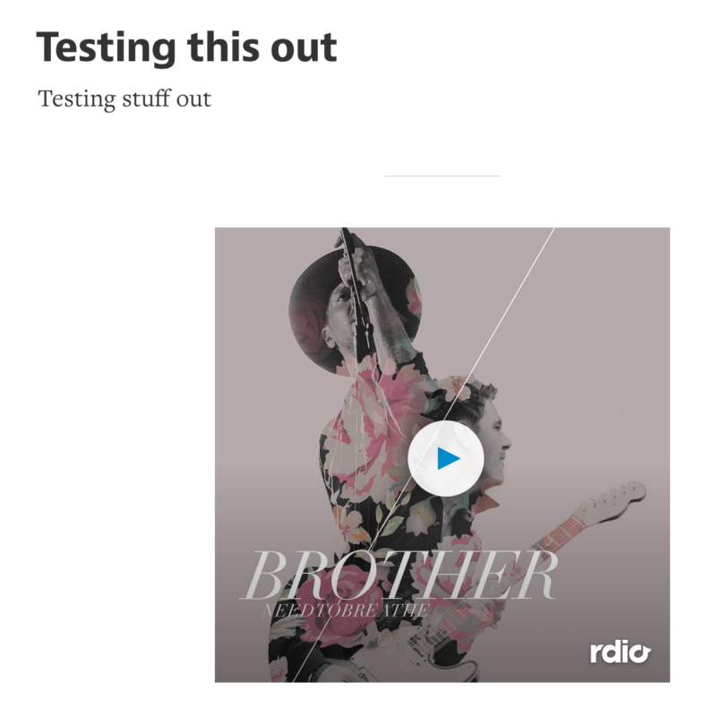 rdio embed medium