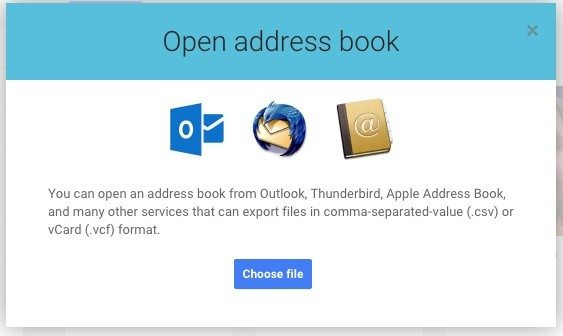 14 google+ open address book