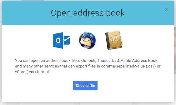 14 google+ open address book