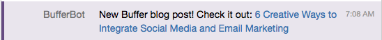 new blog posts in Hipchat