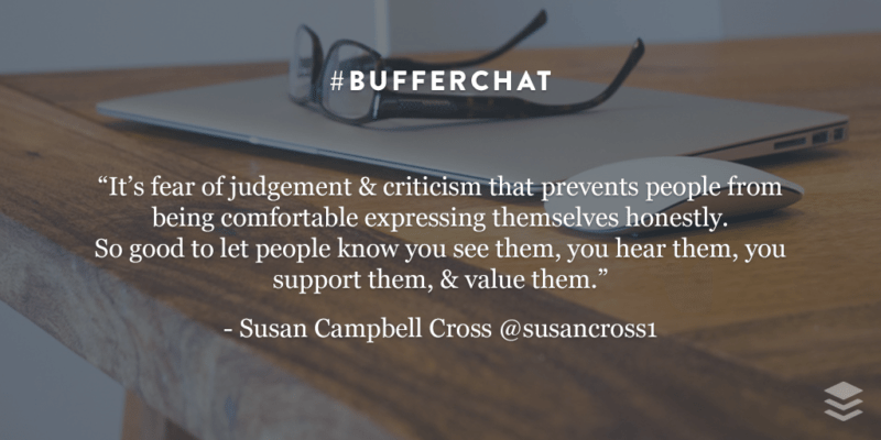 bufferchat recap quote Susan Campbell Cross