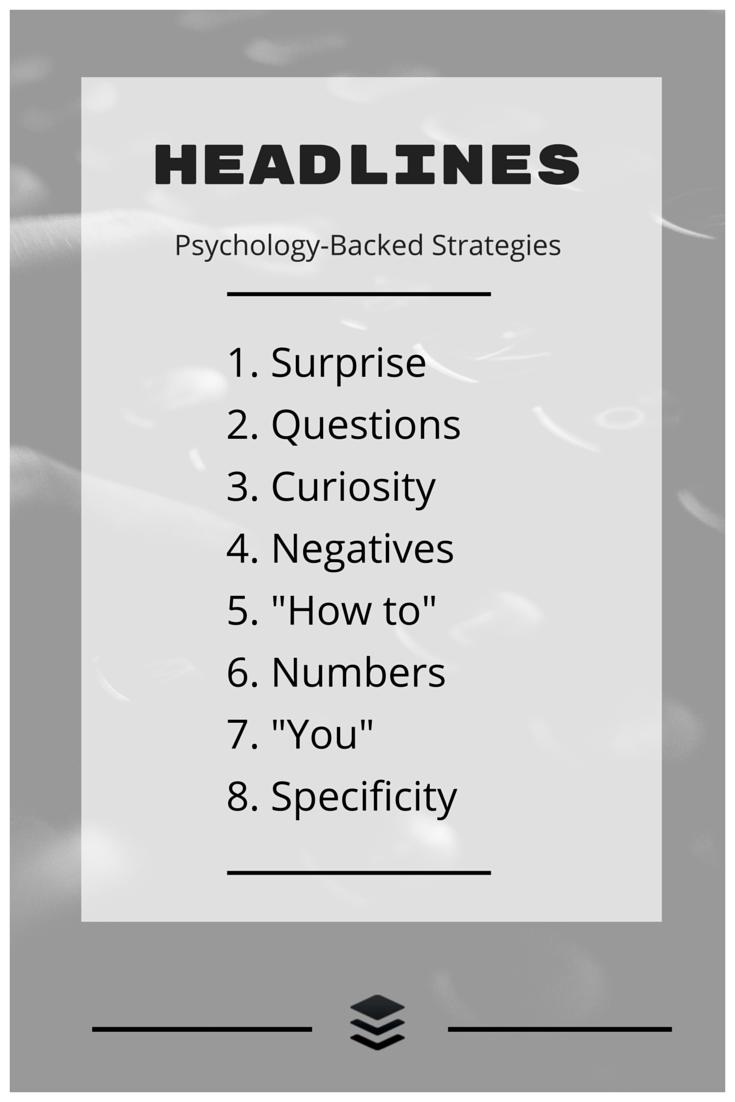 headline psychology strategies