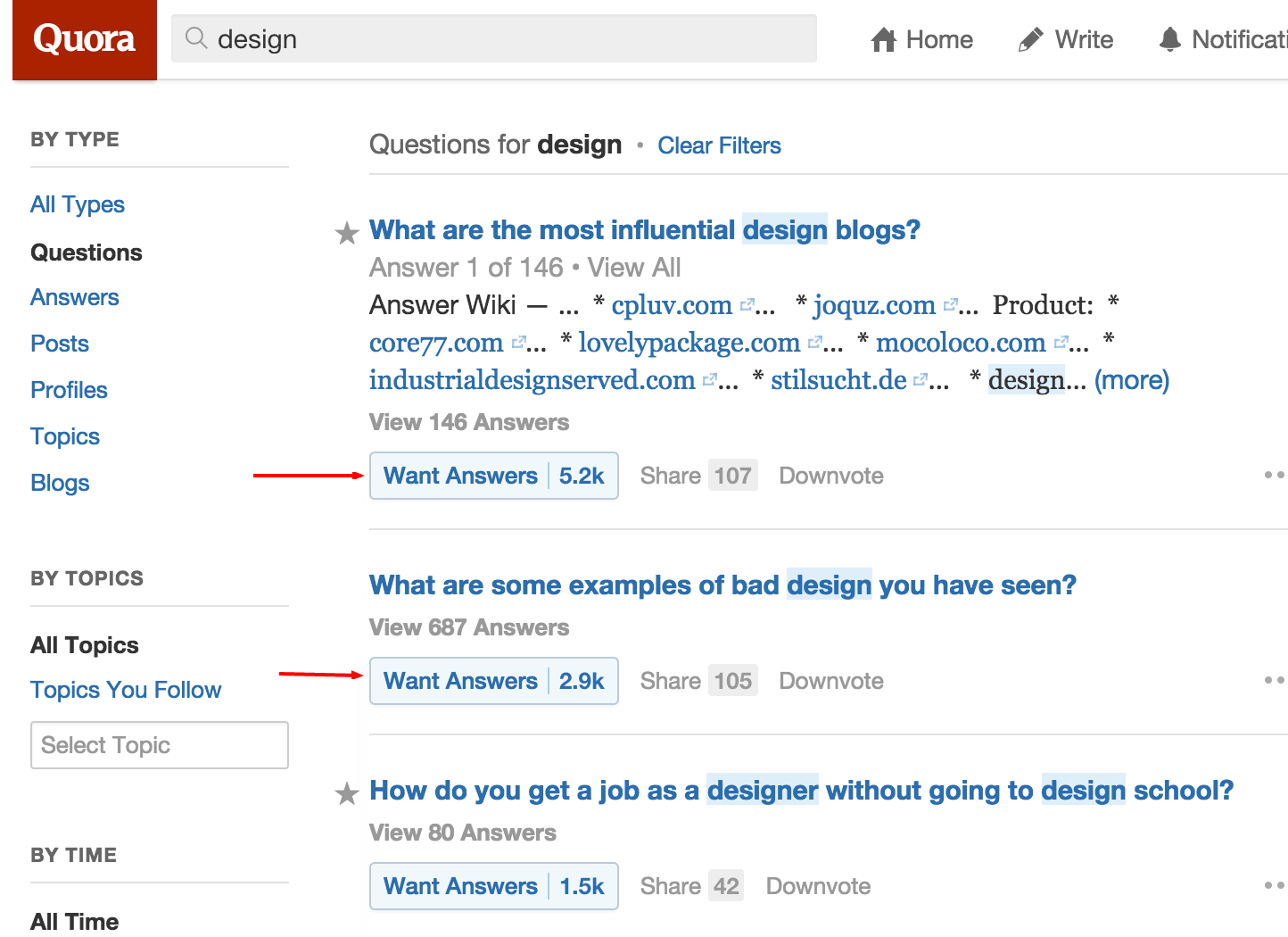 quora questions about design