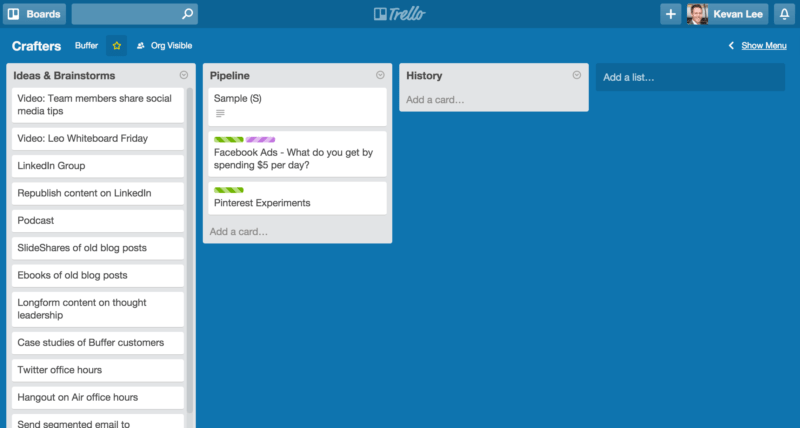 buffer trello board