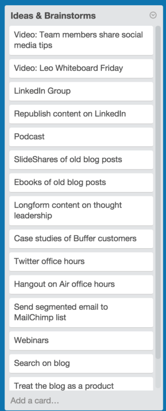buffer trello ideas