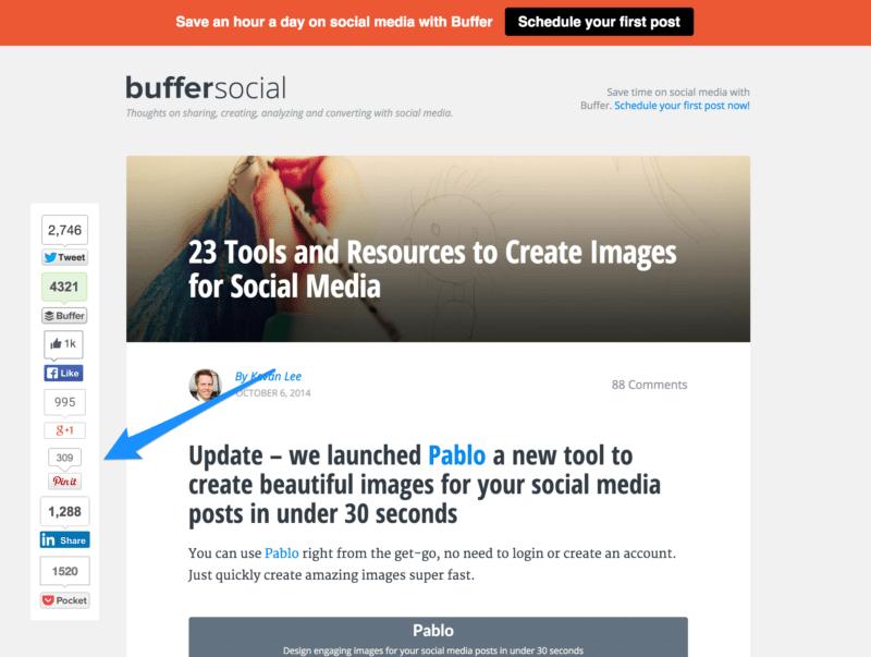 Digg Digg WordPress plugin with Pinterest