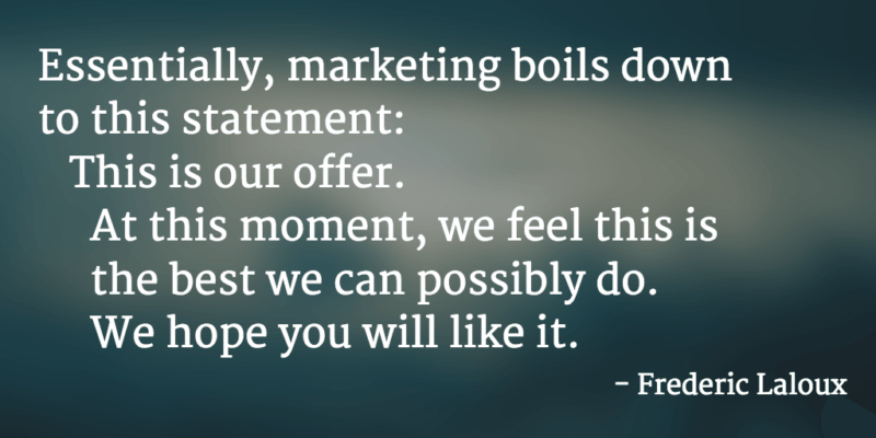 marketing teal quote