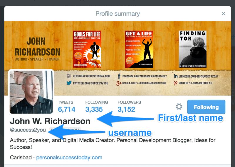 twitter bio names