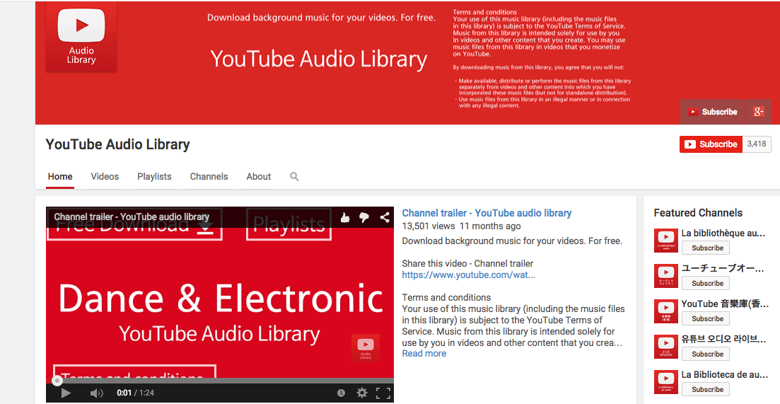 youtube audio library download audio