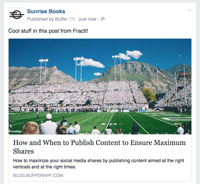Facebook example post