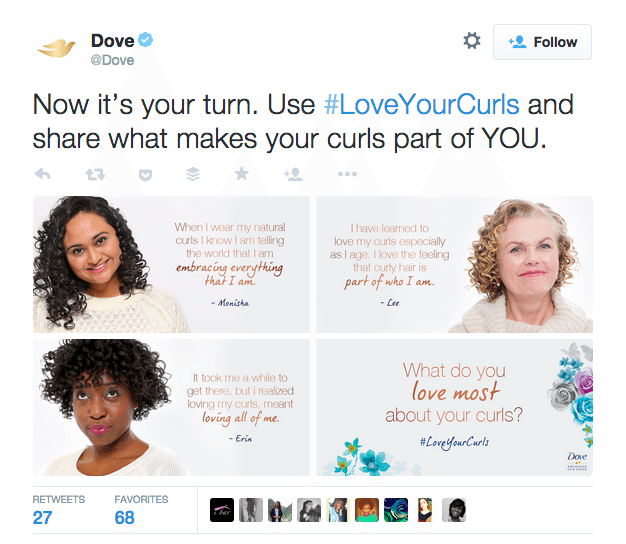 Dove user generated content