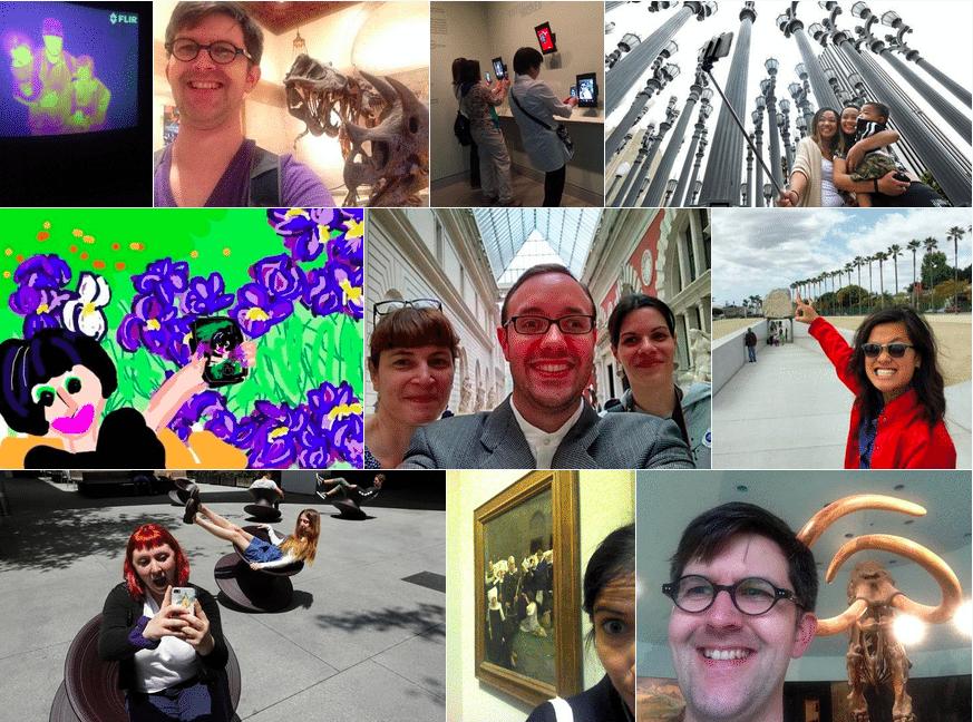 museum selfie day photos