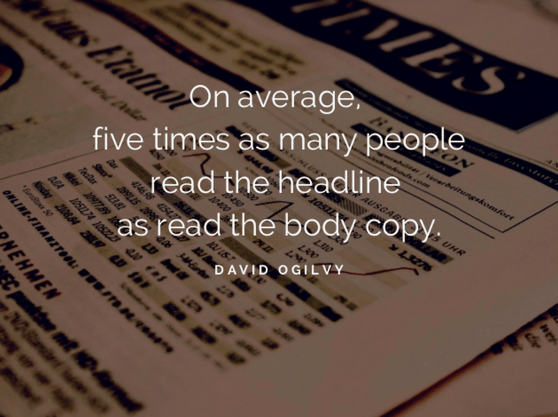 David Ogilvy on headlines