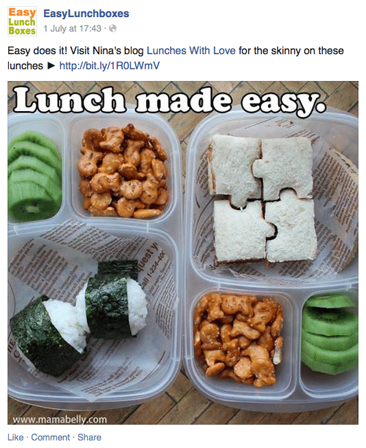 EasyLunchboxes Facebook page