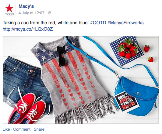 Macy's Facebook page