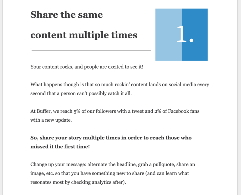 Share the same content multiple times on social media