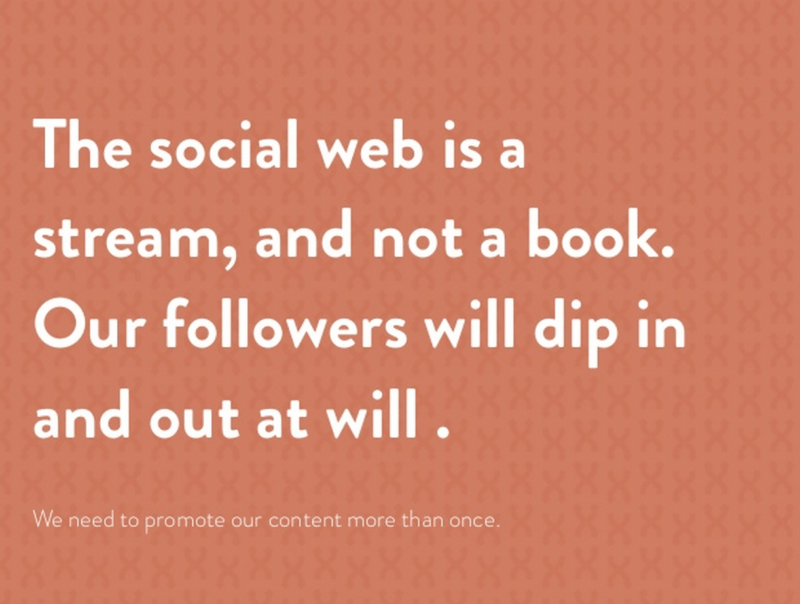 Social media is a stream and not a book