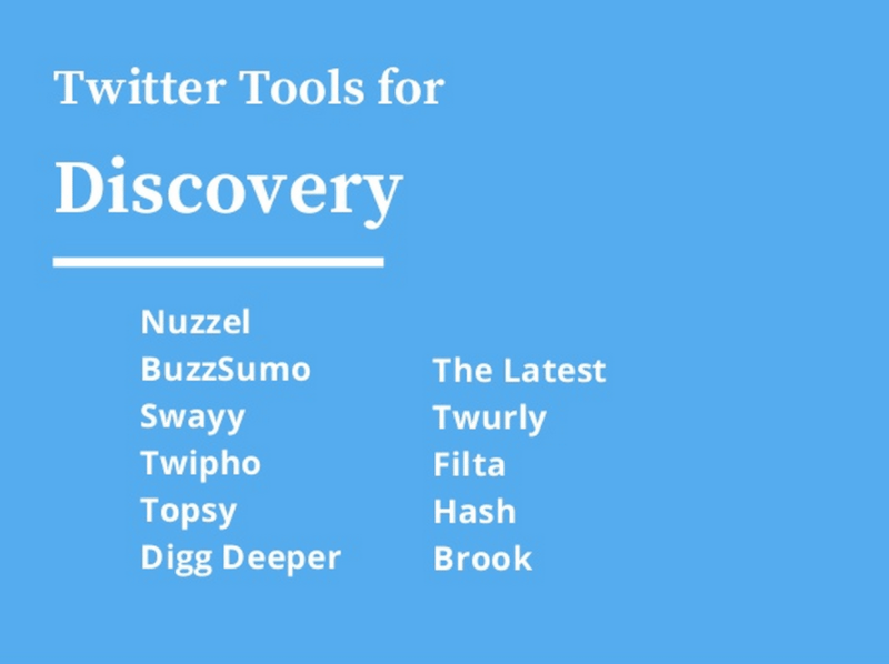 Twitter Tools for Discovery