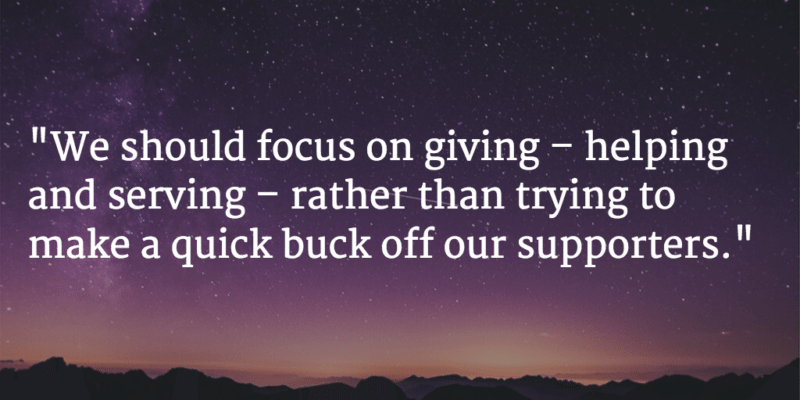 focus on giving