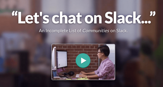slack communities