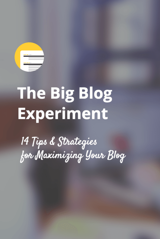 Blog strategies and experiemnts -everything that worked